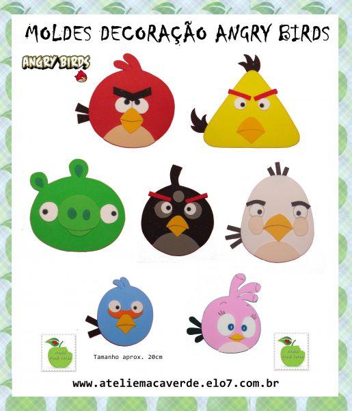 Moldes Angry Birds En Foamy